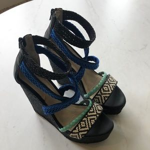 Aldo Tribal print wedge Heels